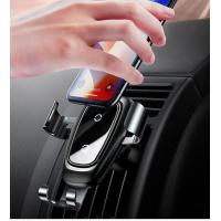 Universal Smart 2 In 1 Wireless Car Charger  , Infrared Sensor Fully Automatic Fast Qi Charging Phone Holder