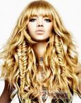 clips reales de la mitad-cabeza del cabello humano en la extensión del pelo