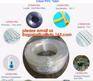 China PVC Transparent Hose Clear Suction no-kinking PVC tubing Soft Clear PVC Tube supplier