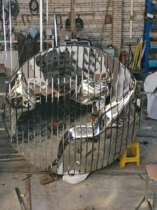 China 316 Large Metal Wall Art Sculptures Modern Bronze Garden Statues on sale