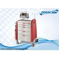Defibrillator Shelf Emergency Crash Carts With CPR Boards For Hospitals
