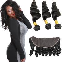 China Smooth Pure Loose Wave Remy Hair Weave No Shedding Fashionable Color on sale
