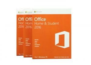 China 32bit MS Office Home And Student 2016 Retail Box With DVD Activate on sale