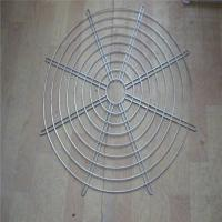 Hanging Wire Mesh Baskets , 200mm Air Exhaust Black Wire Metal Fan Finger Guard