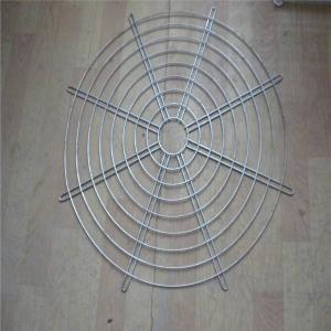China Hanging Wire Mesh Baskets , 200mm Air Exhaust Black Wire Metal Fan Finger Guard on sale