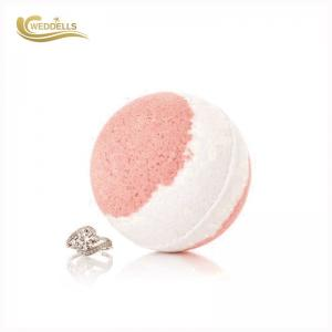 China Pink 160g Surprise Ring Bath Bombs , Fizzy Bath Bombs With Rings Silver 925 on sale