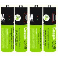 China Cmagic hot selling micro USB Smart rechargeable USB AA battery customized battery cover AA battery USB battery on sale