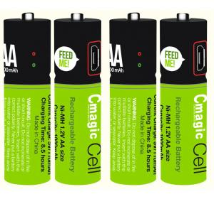 China Smart rechargeable USB AA battery Cmagic AA battery USB battery on sale