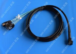 China Internal HD Mini SAS Cable (SFF-8643) to 4 SATA Forward Breakout Cable 3.3 Feet / 1M on sale