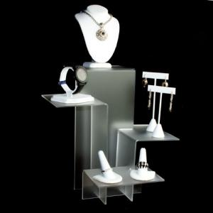 China Excellent Shape Acrylic Jewelery Watch Necklace And Earring Display Stands on sale