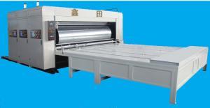 China Carton Feeder Flexo Printing Slotting Machine With Big Roller on sale