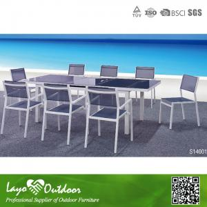 China Modern 12 Seater Extending Dining Table Bistro Outdoor Furniture Set Multiple Color on sale