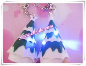 China Plastic Christmas Tree LED Key-chain Keychain with Music on sale