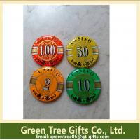 China Factory supply Cheap price custom metal& clay poker chip for sales on sale