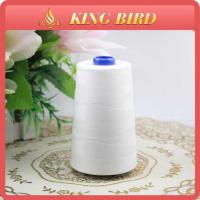 High Strength 40S/2 Spun Polyester Sewing Threads 5000m White Color