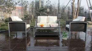 China brush alu wicker sofa set on sale