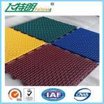 Multi Used Interlocking Sports Flooring Rubber Playground Tiles Polypropylene