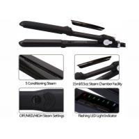 China Salon Ceramic Steam Pro Hair Straightener 450F Max Temp 2.5m Power Cord on sale
