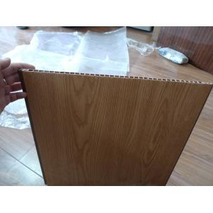 China Heat Insulation PVC Wall Panel Wooden Color 40cm x 12mm For Office Decor on sale
