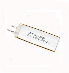 China 360 Children Smart Watch Battery / 3.8V 520mAh Rechargeable Lithium Polymer Battery 641644 on sale