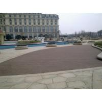 China Moisture Resistant Hollow WPC Deck Flooring Board , Outside Garden Wood Tiles on sale