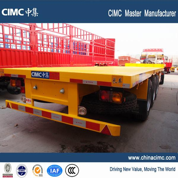 20ft 40ft heavy duty capacity flatbed trailer with container