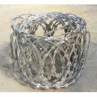 Razor Barbed Wire Flat Wrap Coils 500mm Diameter Galvanized For Sale