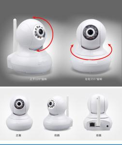 China Home security wireless wifi ip camera, Plug and Play Pan tilt network IP camera for office on sale