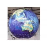 Durable PVC Earth Globe Balloons Inflatable Earth Map Ball with LED Light