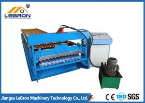 China Hydraulic Cut Corrugated Sheet Roll Forming Machine , Sheet Metal Corrugating Machine 8-12m/min on sale