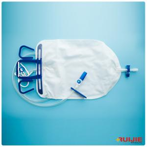 China urine bag PVC material pediatric 2000ml Luxurious Urine Drainage Bag with T-Tap Outlet on sale