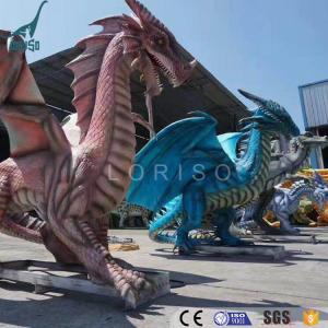 China Silicon Rubber Animatronic Western Dragon For Dinosaur Park on sale