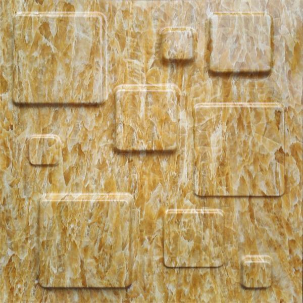 Fire Retardant 3D Textured Wall Panels / 3D Marble Stone Wall ...