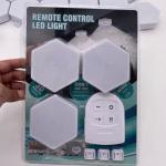 70LM 6PCS Led Quantum Hexagonal Wall Lamp / Honeycomb Touch Wall Light