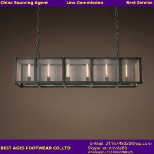 China RIVETED MESH RECTANGULAR CHANDELIER FOR Industrial/Coffie shop/Dinning/Kitchen Light on sale