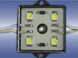 China RGB 4pcs SMD 5050 leds Iron shell with CE&ROHS RGB Led module IP67 on sale