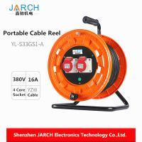 Waterproof Retractable Hose Reel , Cable Reel Drum For Industrial Equipment
