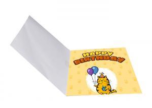 China Custom Logo Printing Musical Happy Birthday Card Audio Greeting For Festival on sale