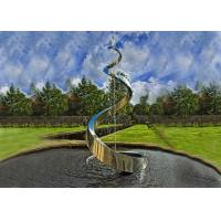 China Decorative Artistic Water Fountains / Stainless Steel Outdoor Fountains For Garden on sale