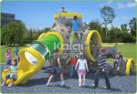 Outdoor playground new climbing structure with slide bright color plastic toys for kids
