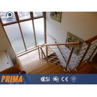 Stainless steel stair hand railings/post railings with wood handrail