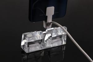 China COMER Phone 4 Ports Anti-theft holding retail alarm mobile phone upright display lock acrylic stands on sale