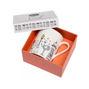 China Custom Mug Used  White Card Board Paper Lid And Base Packaging Box on sale