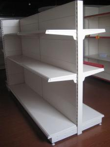 China High Grade Steel Supermarket Display Commercial Retail Shelving Goods Backplane Gondola Shelf on sale