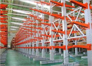 China Adjustable Cantilever Racking System Multi Layer Industrial Long Pipe Storage on sale