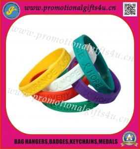 China Debossed silicone wristband/silicone bracelet on sale