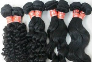China Grade 7A Natural Color 100 Indian Human Hair Weave With Body Wave on sale