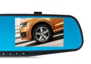 China 4.3 Inch Touch Screen Car Rear View Mirror Camera / Rearview Mirror DVR on sale
