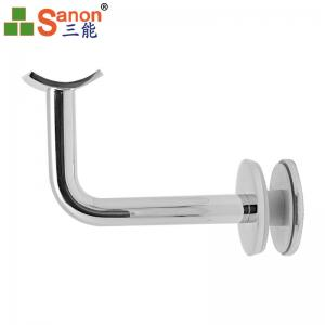 China Commercial Stainless Steel Handrail Fittings Hollow Pipe Wall Deck SS Angle Stair on sale