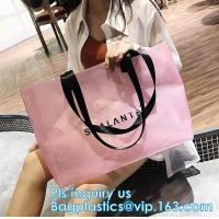China Clear PVC/Vinyl shoulder tote bag, outdoor carry clear pvc shoulder bag, fashion jelly candy bag women pvc clear shoulde on sale